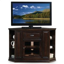 "Chocolate Cherry 32"" High Corner TV Console w/Bookcase ends #86242"
