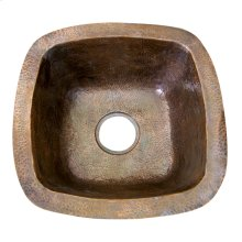 "Trent Prep/Bar Sink, 18"" - Hammered Antique Copper"