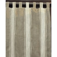 5th Ave Stripe 42x108 100% Linen Curtain