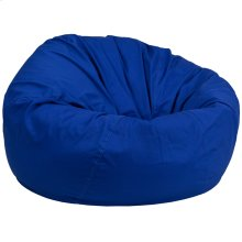 Oversized Solid Royal Blue Bean Bag Chair