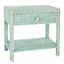 Ecliptic Side Table, Bay Blue