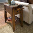 Andorra - Chairside Table - Eden Burnished Cherry Finish Product Image