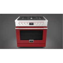 "36"" Dual Fuel Range - Glossy Red"