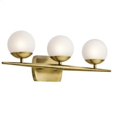 Jasper Collection Jasper 3 Light Halogen Bath Light in NBR