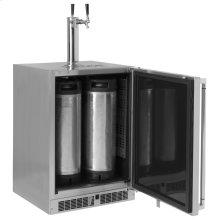 "Lynx 24"" Refrigerator w/Keg option, Right Hinge"