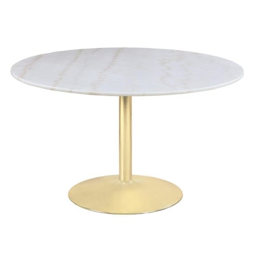 Modern White and Gold Dining Table