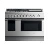 "Fisher & Paykel Dual Fuel Range, 48"", 5 Burners With Griddle, Lpg"