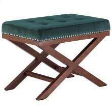 Facet Velvet Bench in Green