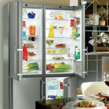 "48"" Freestanding Side-By-Side Refrigerator & Freezer Premium, NoFrost ~ stainless steel finish"