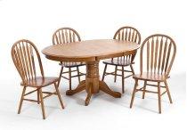 Dining - Classic Oak Chestnut Laminate Pedestal Table Product Image