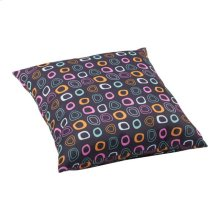 Kitten Large Outdoor Pillow Chocolate Base And Multicolor Pattern