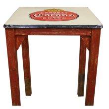Antique Metal Top Table