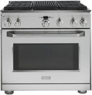 "Monogram 36"" Dual-Fuel Professional Range with 4 Burners and Grill (Natural Gas) Product Image"