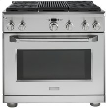 """Monogram 36"""" Dual-Fuel Professional Range with 4 Burners and Grill (Natural Gas)"""