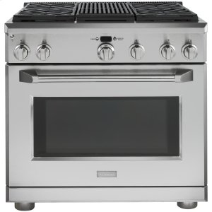 "GEMONOGRAMMonogram 36"" Dual-Fuel Professional Range with 4 Burners and Grill (Natural Gas)"