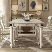 Regan - Rectangular Dining Table - Farmhouse White Finish