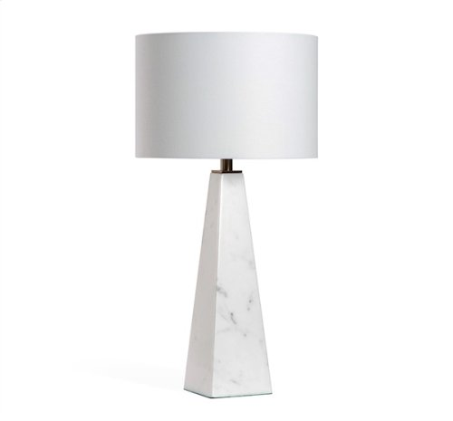 Maddox Lamp - White/ Antique Brass