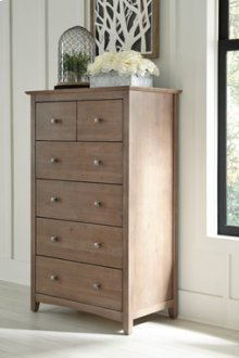 Lancaster 6-Drawer Carriage Chest Taupe Gray