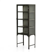 Antique Nickel Finish Element Small Cabinet