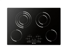 """Black Glass 30"""" Electric Radiant 4 - Element Cooktop"""