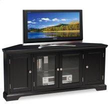 "Black Hardwood 60"" Corner TV Console #83386"