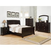 Kenton Queen Bedroom Set: Queen Bed, Nightstand, Dresser & Mirror