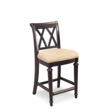 Camden Dark Splat Back Uph. Bar Stool