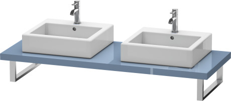 Console For Above-counter Basin And Vanity Basin, Stone Blue High Gloss Lacquer
