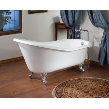 ROLL RIM SLIPPER Cast Iron Clawfoot Bath With Continuous Rolled Rim