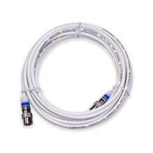 16' Mini Coaxial Cable White