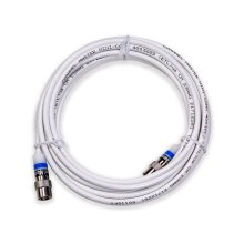 16' Mini Coaxial Cable White