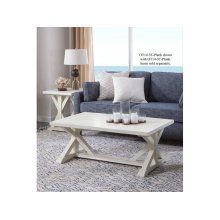 Topsail Plank End Table in Seashell