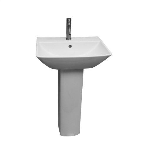 Summit 600 Pedestal Lavatory - White