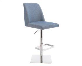 Piper Adjustable Barstool - Blue