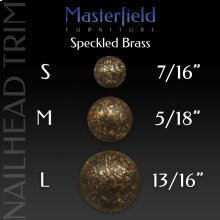 Speckled Brass Nail Head Trim