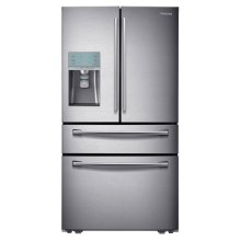 """36"""" Wide, 29 cu. ft. 4-Door Refrigerator with Automatic Sparkling Water Dispenser"""