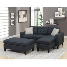 F6575 / Cat.19.p3- 3PCS SECTIONAL BLACK