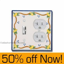Elba Combo Switch Outlet Plate
