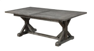 """Emerald Home Paladin Dining Table Kit W/28"""" Butterfly Leaf Rustic Charcoal D350-10-k"""