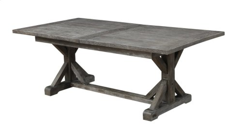 "Emerald Home Paladin Dining Table Kit W/28"" Butterfly Leaf Rustic Charcoal D350-10-k"