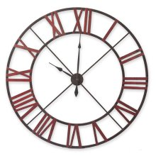Red Cut-Out Wall Clock