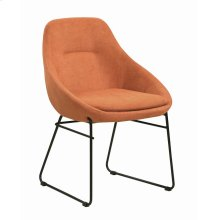 Persimmon and Matte Black Dining Chair
