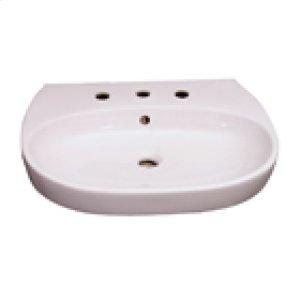 Zen 600 Pedestal Lavatory - White