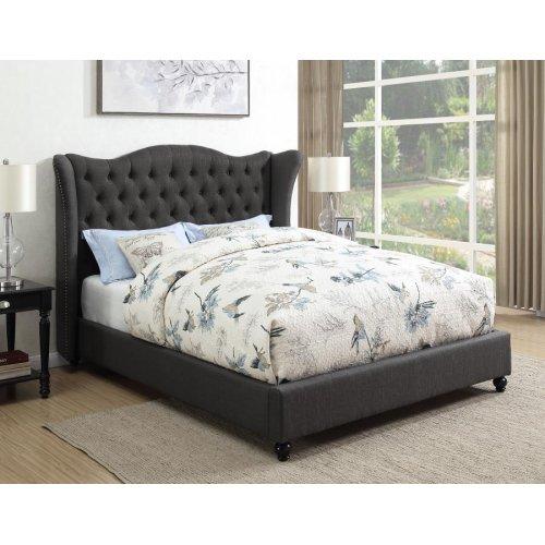 Newburgh Blue Grey Upholstered Full Bed