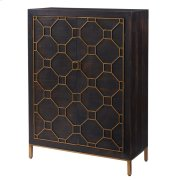 Fairmont Bar Cabinet Antique Gold Legs, Rustic Brown Product Image