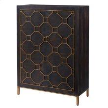Fairmont Bar Cabinet Antique Gold Legs, Rustic Brown