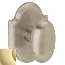 Non-Lacquered Brass 5024 Oval Knob