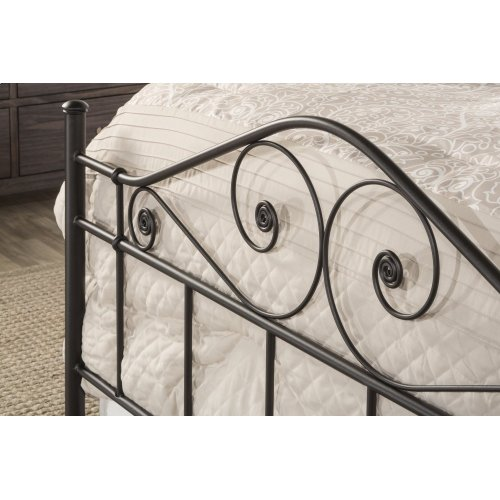 Harrison King Bed With Rails - Textured Black
