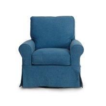 Sunset Trading Horizon Slipcovered Swivel Rocking Chair - Color: 410046