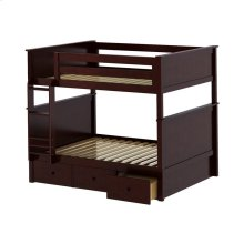 Full/Full Bunk   3 Drawer Storage Espresso